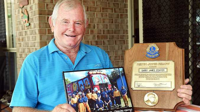 SELFLESS: Garry O'Dwyer with memorabilia from his extensive community volunteering to better his communities.