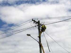 Ergon energy restoring power after fallen line