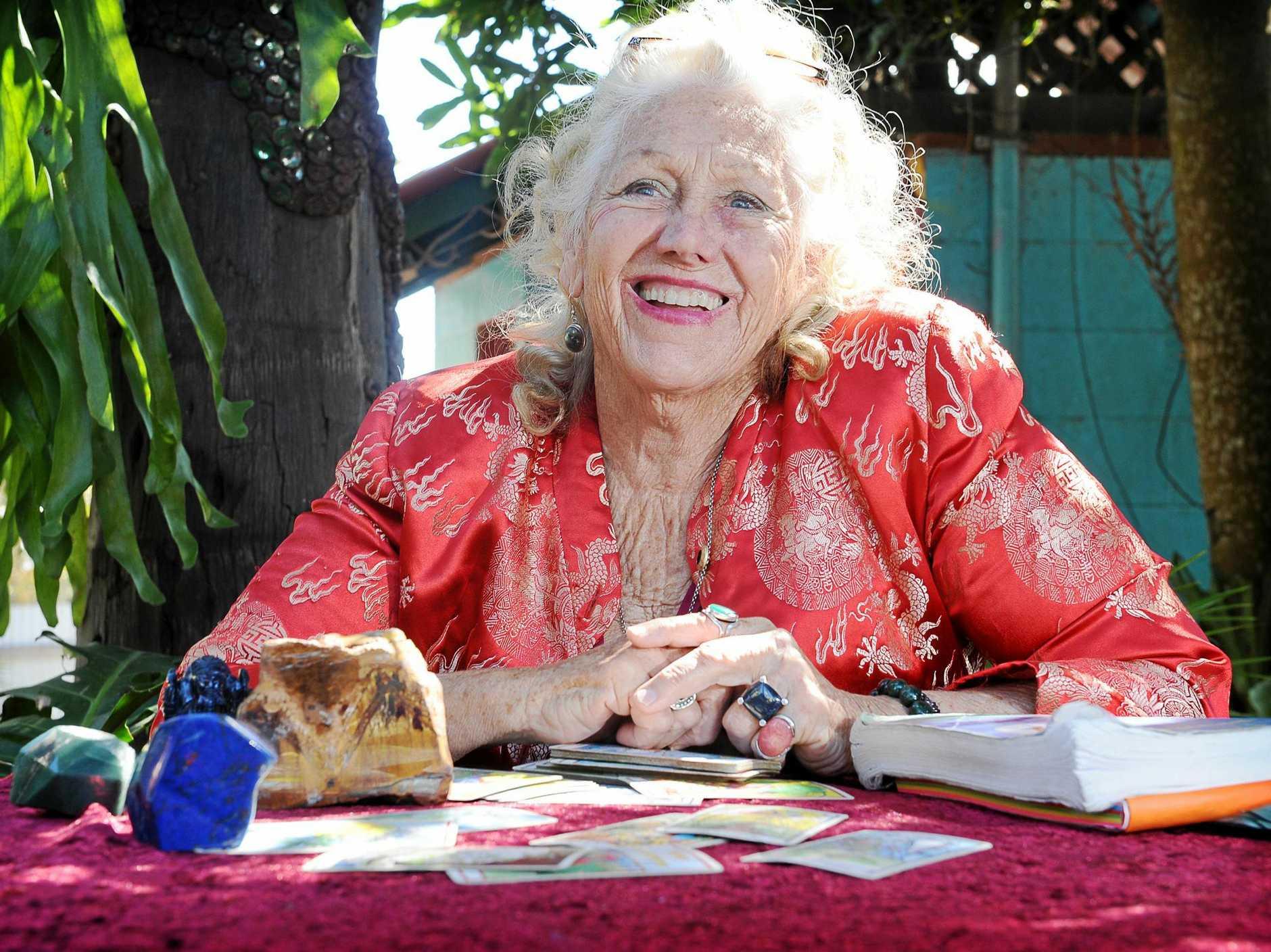 DIVINE DIVINATOR: Jazmin Theadora of Nimbin has been a practising Psychic and tarot card reader since 1968.
