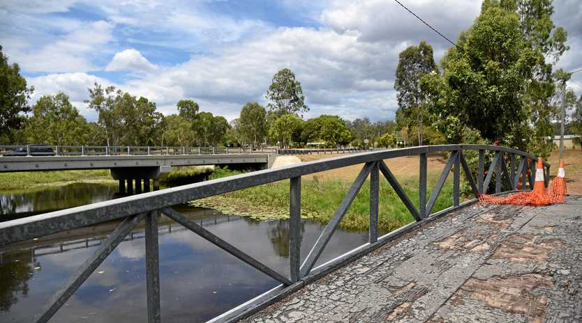 TOO DEAR: Council say repairs to the footbridge over Harkness Boundary Creek in Eidsvold is too expensive to fund unilaterally without passing the cost on to ratepayers.