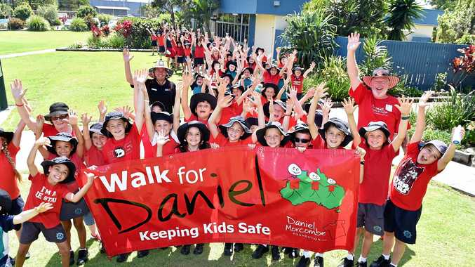 COMMUNITY SPIRIT: Denise and Bruce Morcombe at Buddina State School Day for Daniel