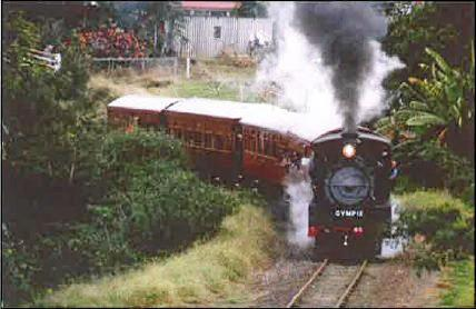 The C17 No 45 locomotive engine running as the Mary Valley Rattler.