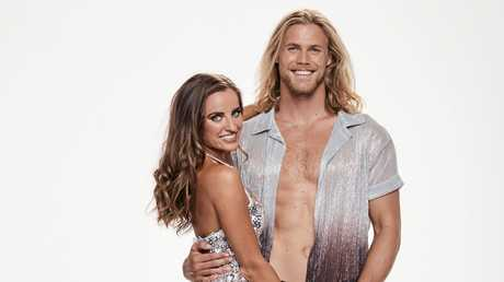 Jett Kenny with his Dancing With The Stars dance partner Lily Cornish.