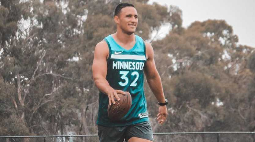 Former NRL star Valentine Holmes is trying to break into the NFL. Picture: Instagram