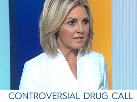 Dr Alex Wodak spoke with Georgie Gardner. Picture: Today Show