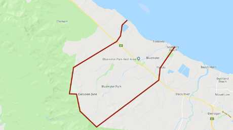 Police declare exclusion zone under Public Safety Preservation Act for areas in Bluewater encompassing Purono Parkway, Blue Hills and Verrall Rd.
