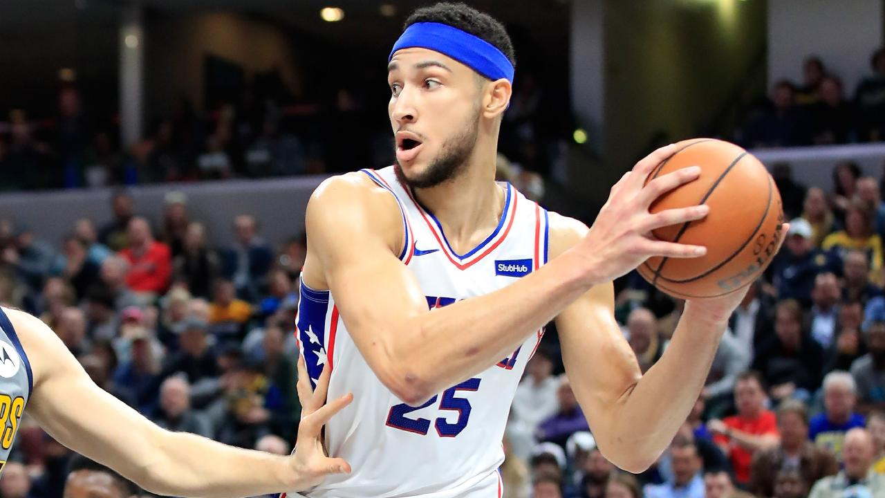 Ben Simmons in action for the Philadelphia 76ers.