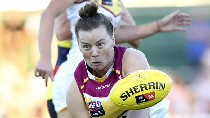 Brittany Gibson playing for Brisbane. Picture: Sarah Reed