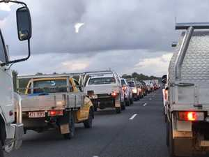 Three-truck crash sparks highway delays