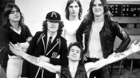 Scott and AC/DC in an undated photo.