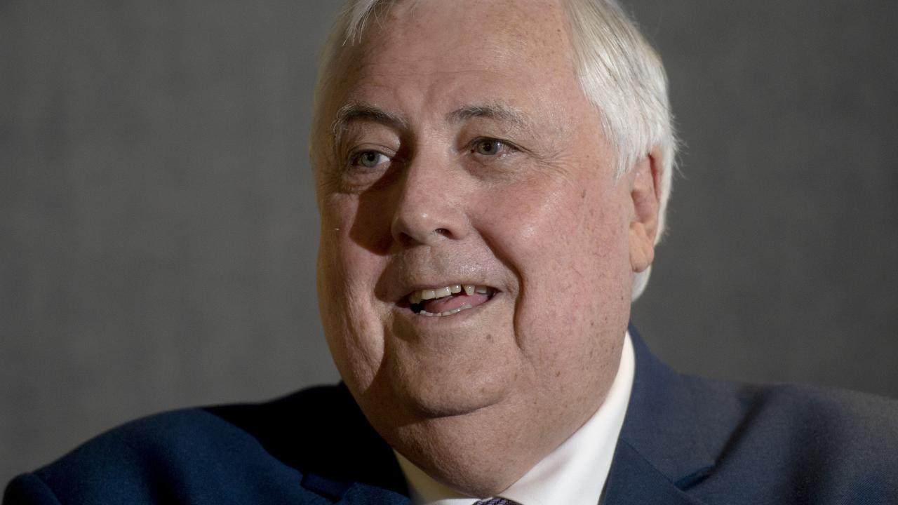 Clive Palmer at the launch of his politics-themed app. Picture: Jeremy Piper/AAP