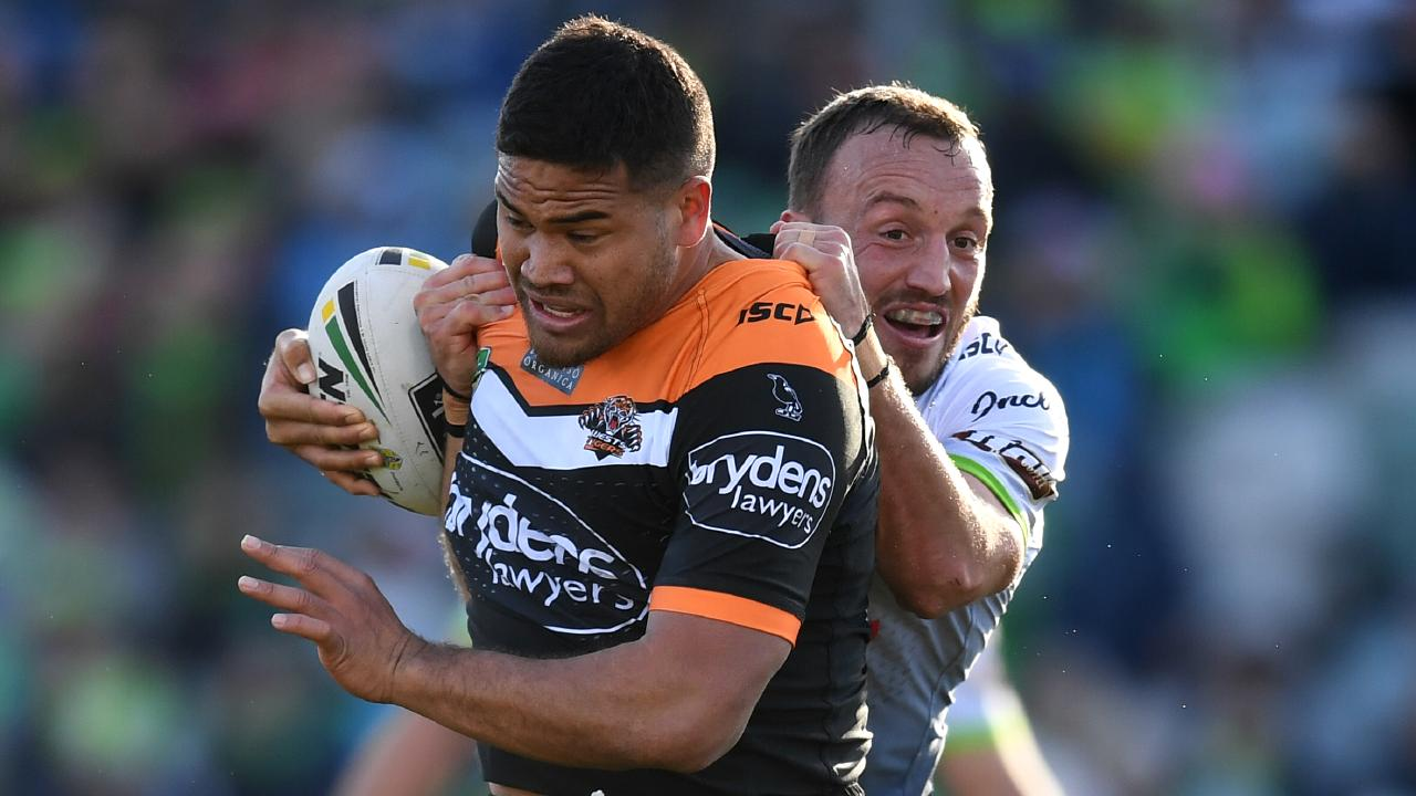 Esan Marsters of the Tigers. Picture: AAP Image