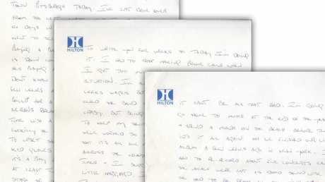 The rocker outlined his feelings while staying at the Hilton 41 years ago.