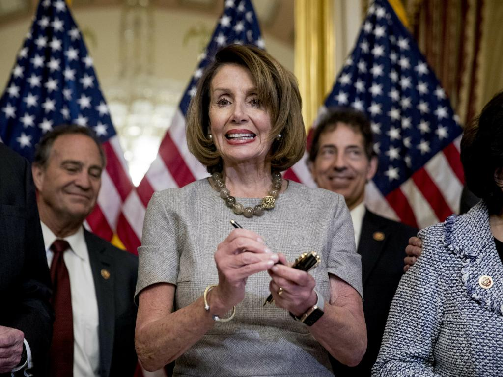 House Speaker Nancy Pelosi has said Democrats will not fund Mr Trump's $US5.7 billion border wall. Picture: AP/Andrew Harnik