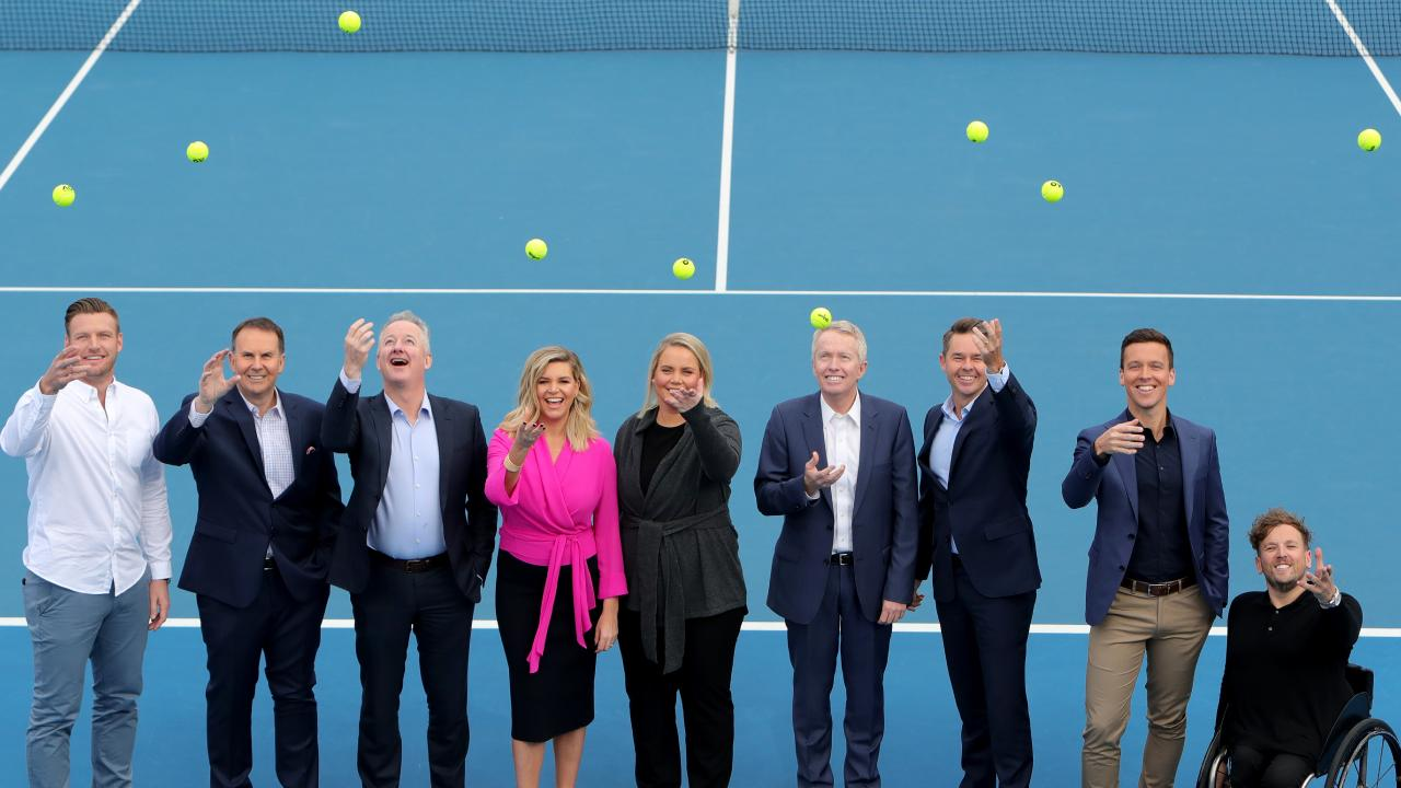 Nine's presenters and commentators brought freshness to the tennis. Picture: Stuart McEvoy