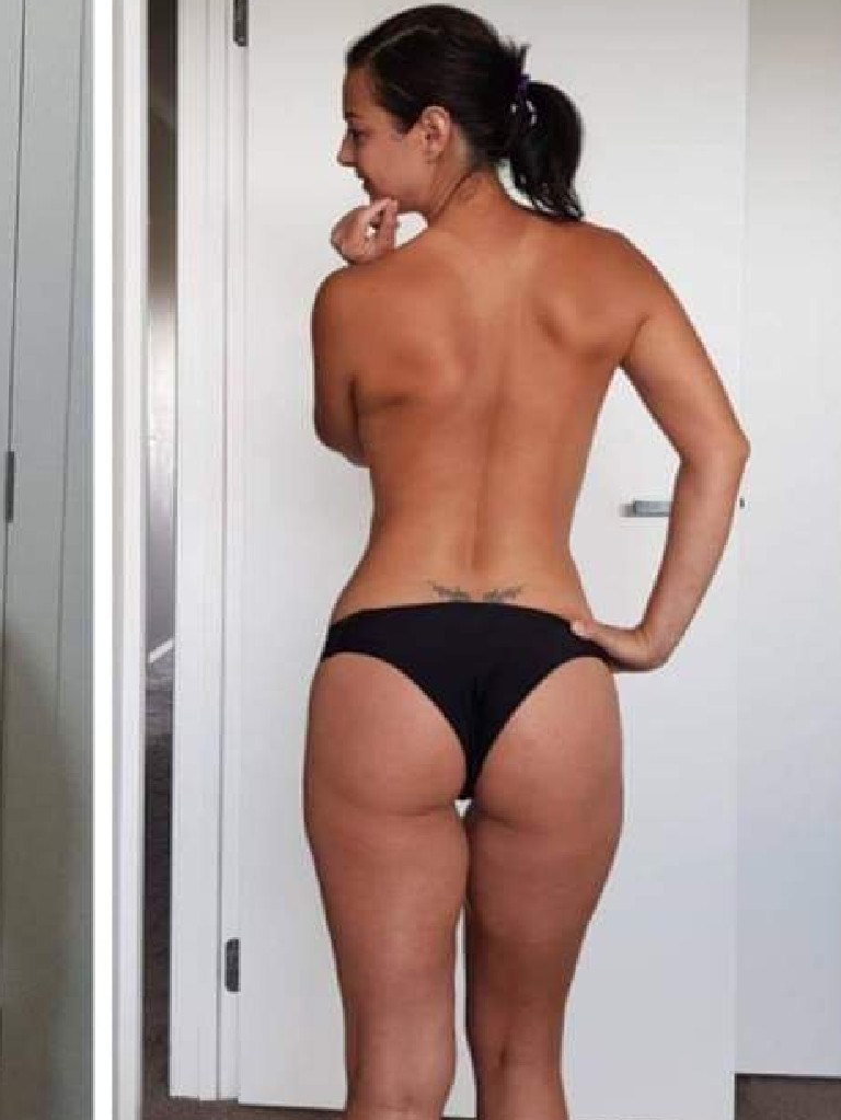 Her toned behind is as a result of 100 squats a day and HIIT workouts.
