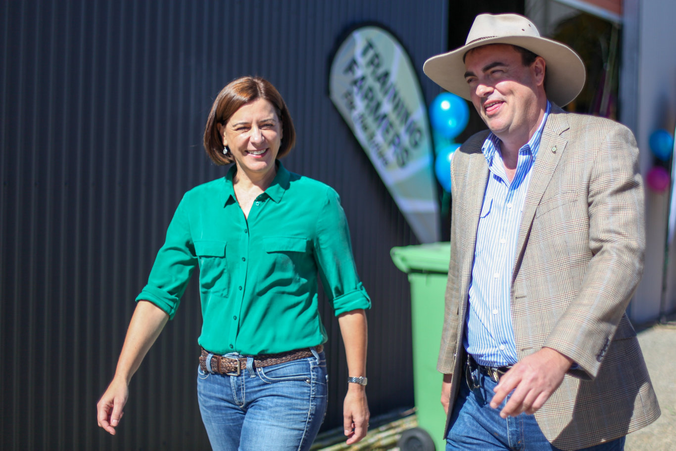 Jason Costigan and Deb Frecklington talk power prices at the 2018 Mackay Show.