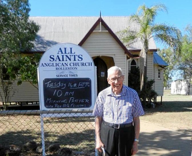 LIFE'S WORK: Fr Arthur Fellows in 2017 returned to preach at one of his favourite parishes, Springsure, where his father had served before him in 1923. He said there's nothing like being rector of a country parish.