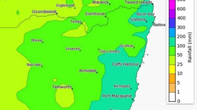 BoM's February rainfall predictions.