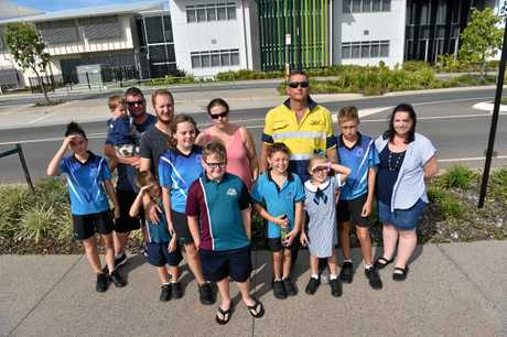 Parents and students are not happy about the lack of bus services outside the Baringa State School.
