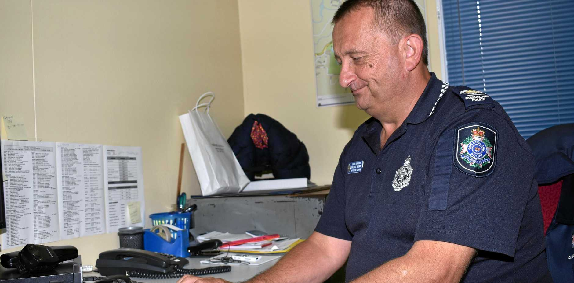 REMAIN VIGILANT: Senior Sergeant Rowland Browne urged residents to be wary of the scammers.