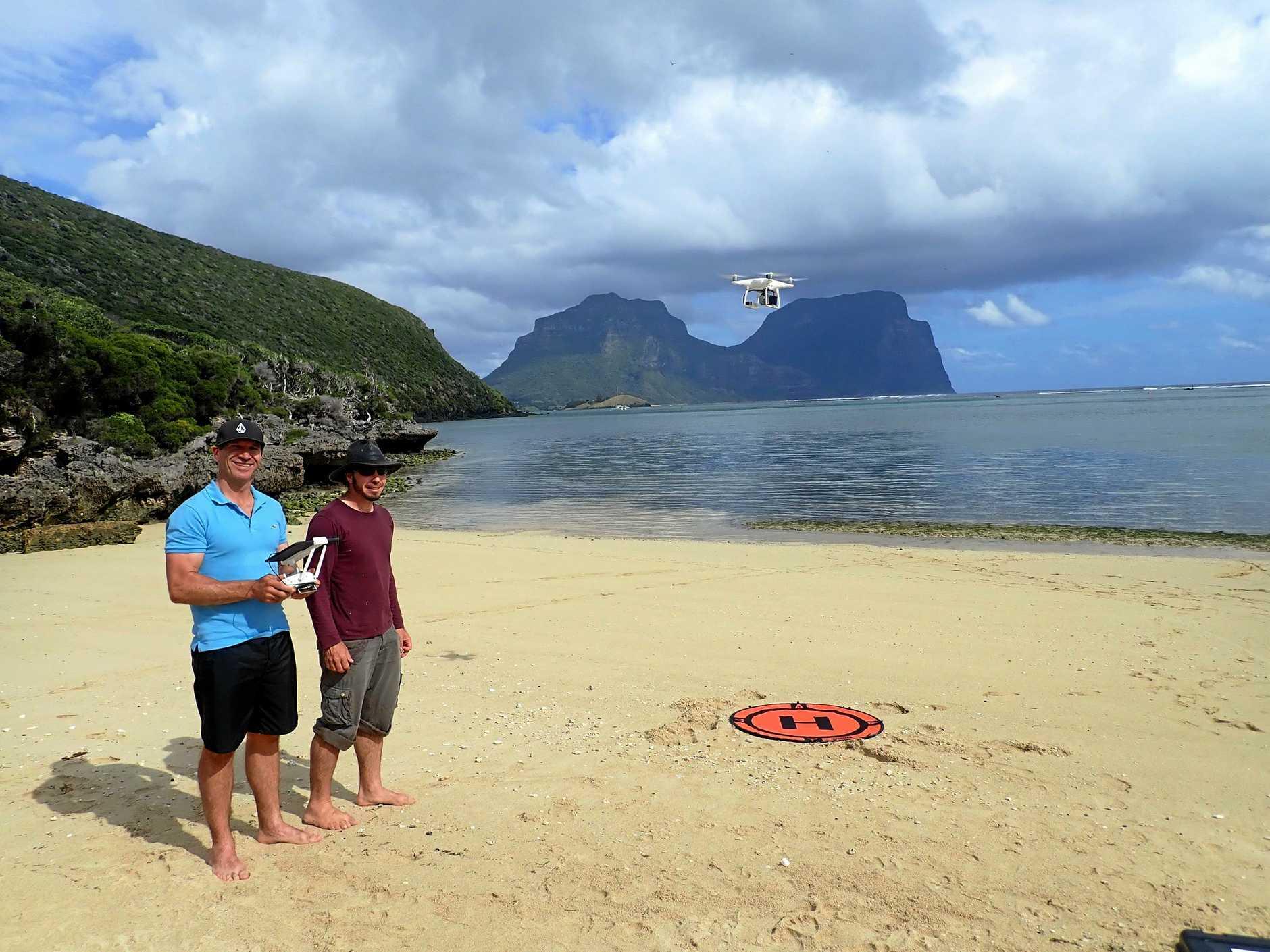 Brendan Kelaher and Andrew Colefax at Lord Howe Island