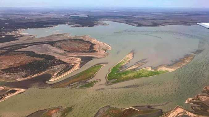DRY TIMES: Fairbairn Dam levels continue to plummet.