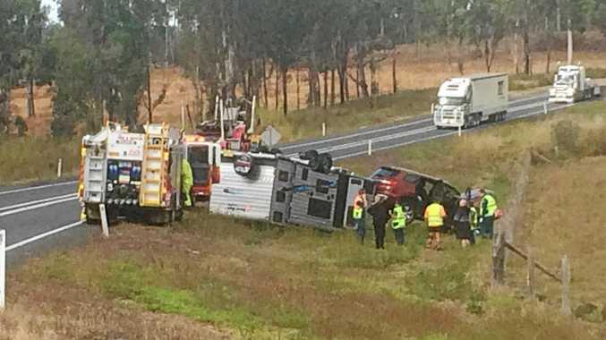Crash near Tiaro on Bruce Highway.