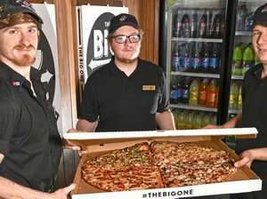 VIDEO: Ipswich pizza so big it barely fits out shop doorway