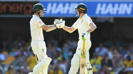 Head and Labuschagne's partnership at the Gabba was the highest since Cape Town. Picture: AAP