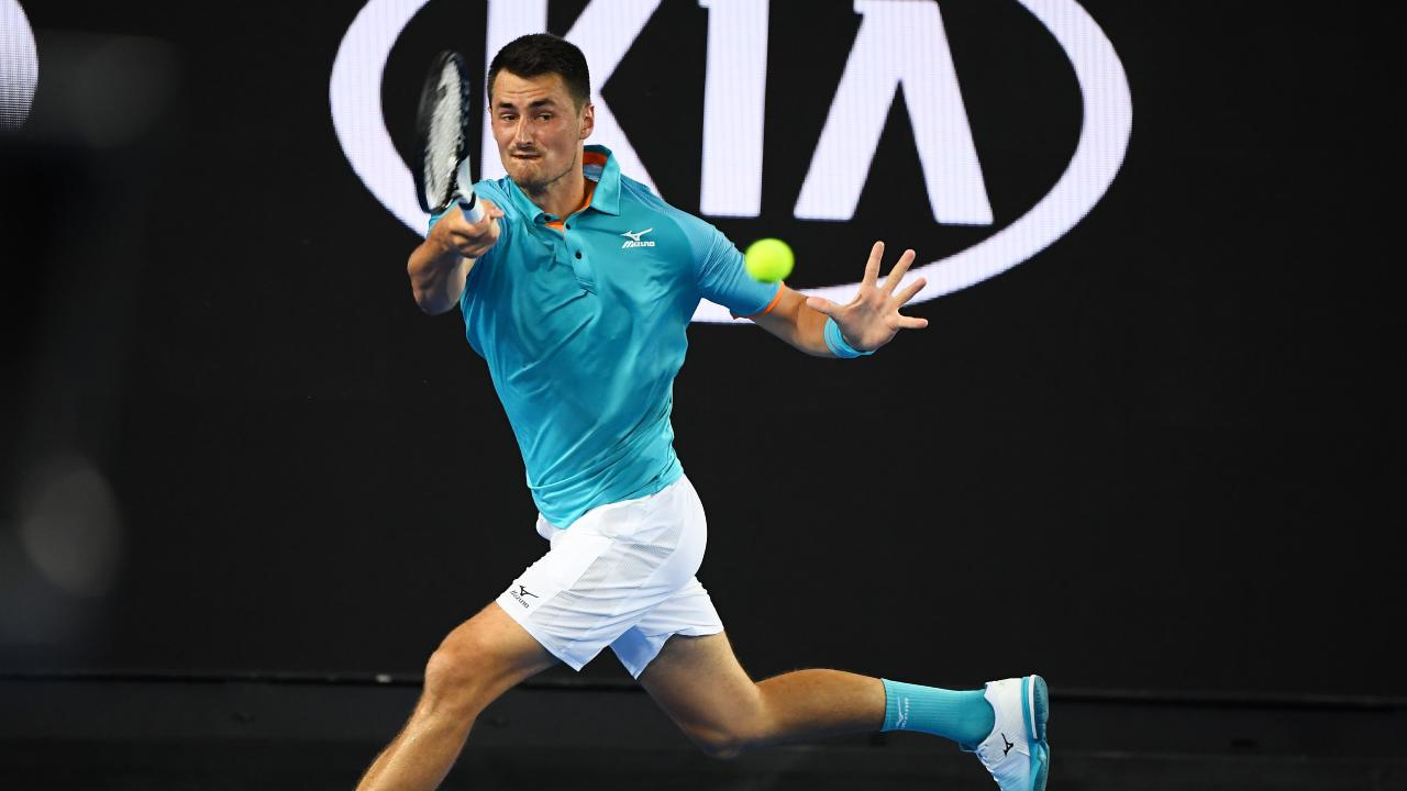 Bernard Tomic lost in the first round of the Australian Open to Marin Cilic. (Photo by Quinn Rooney/Getty Images)