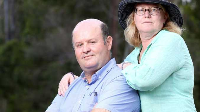 Nicolas & Leanne Roulant, the parents of Daniel Roulant who died in 2017 from meningococcal disease. Picture: Steve Pohlner/AAP