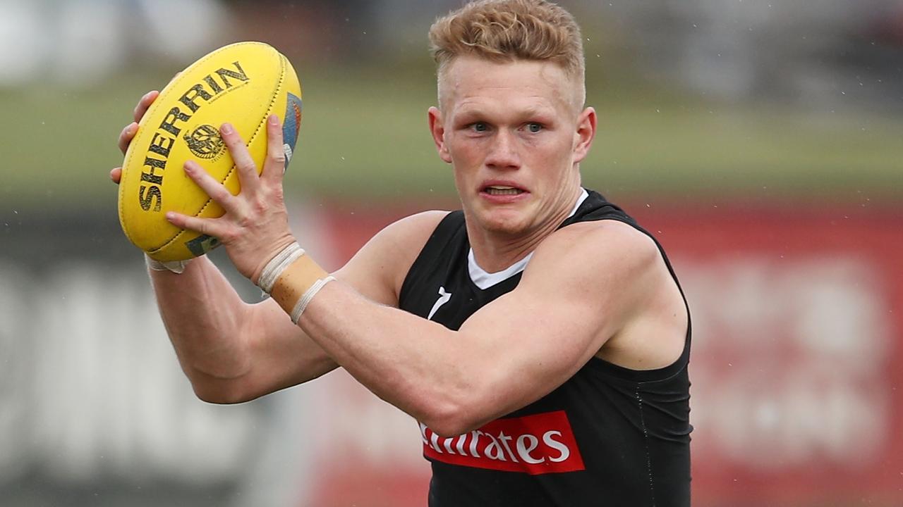 Collingwood midfielder Adam Treloar.