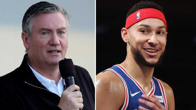 Eddie McGuire and Ben Simmons.