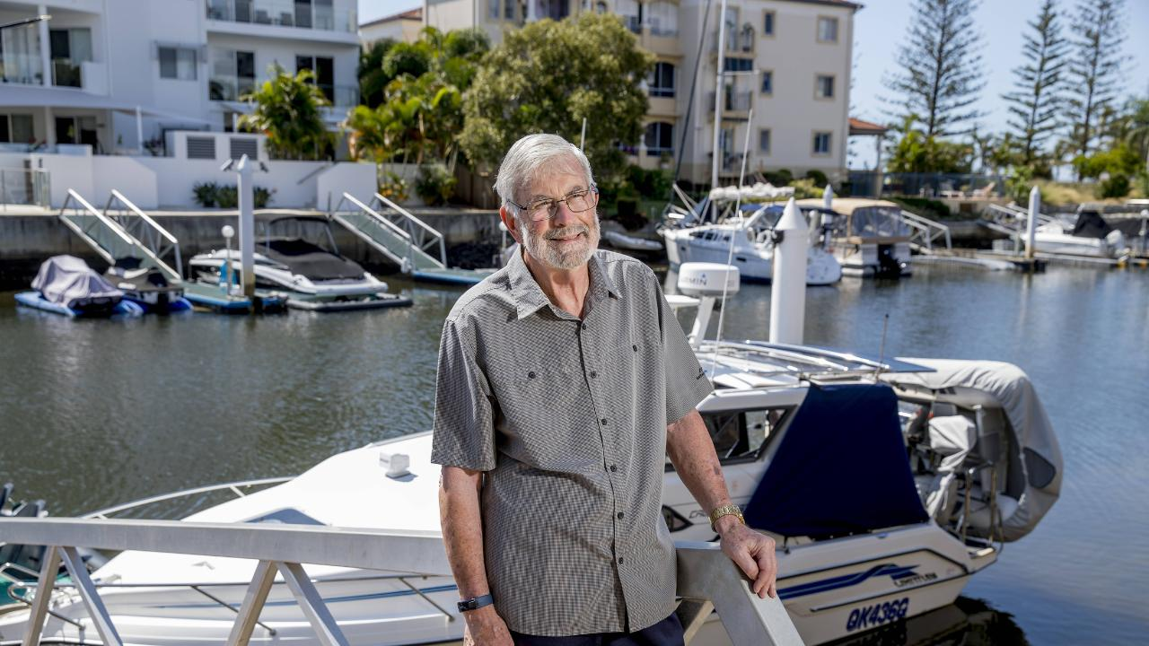 Dr Robert Montgomery pictured at his Runaway Bay home. Picture: Jerad Williams