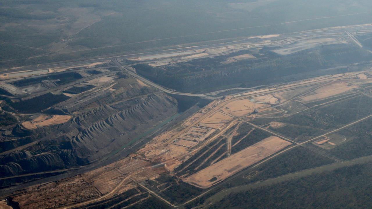 Coal mines in  the Bowen Basin in Queensland.