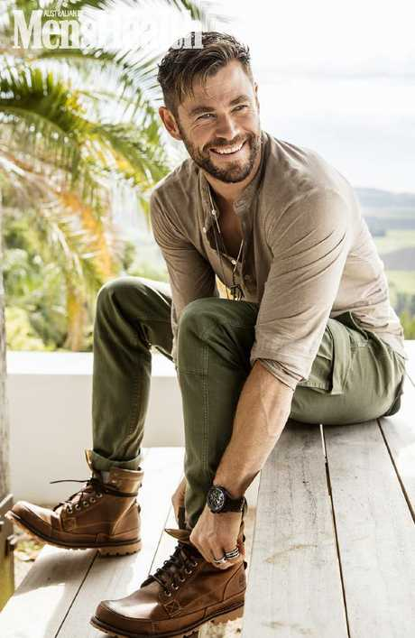 Chris Hemsworth chats about his fitness app Centr in Men's Health's March issue, on sale today. Picture: Steven Chee for Women's Health/Men's Health Australia