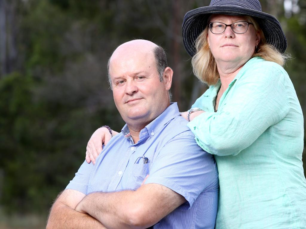 Nicolas & Leanne Roulant, the parents of Daniel Roulant who died in 2017 from meningococcal disease. Picture: Steve Pohlner, AAP