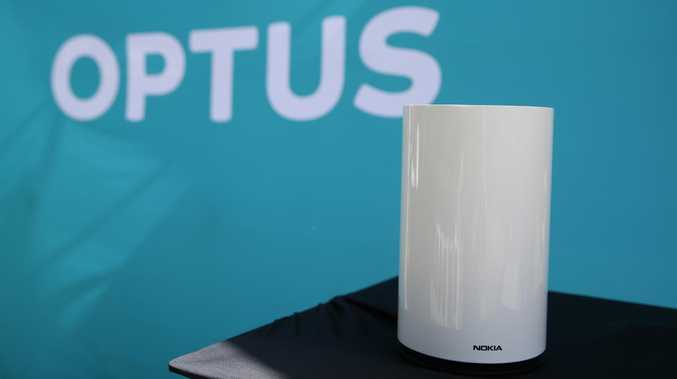 The Optus 5G Home Broadband Device unveiled in Canberra.