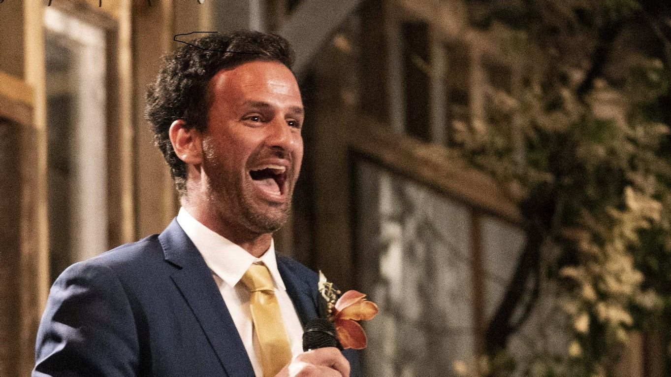 Mick laughs it up during his wedding reception on Married At First Sight.