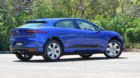 The electric-powered  Jaguar I-Pace has a range of more than 400km.