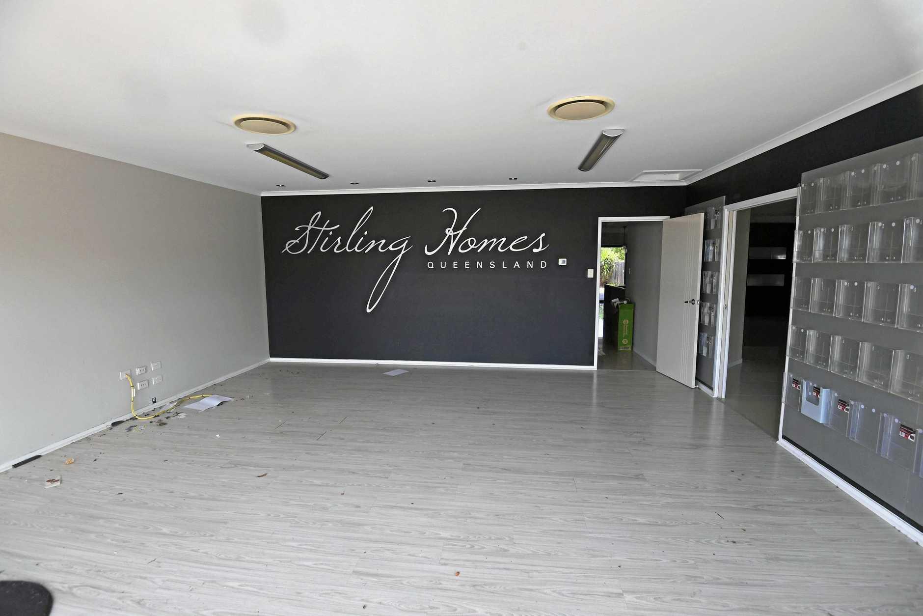 The deserted Stirling Homes display property on Premier Ave.
