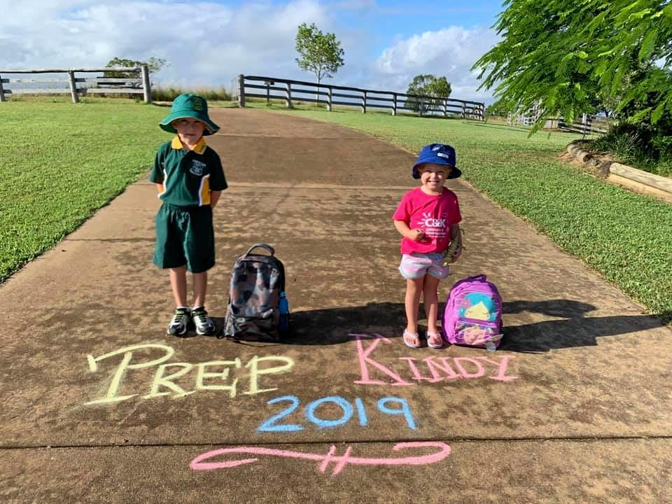 BACK TO SCHOOL: Two prep students begin their exciting journey this week.