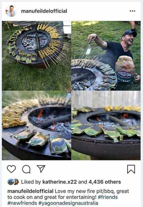 FIRE PIT: Yagoona Design Australia is based in Bundaberg. Celebrity chef Manu Feildel often posts photos of what he is cooking on Instagram.