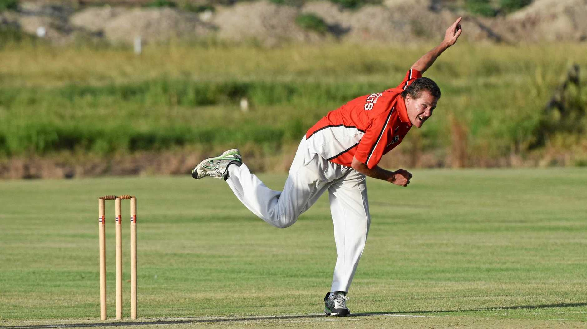 LEADING BY EXAMPLE: Coffs Colts Red captain Matt Rose bowled a handy spell on Thursday night against Northern Districts.