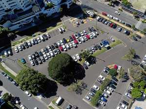 Plan in motion for carpark, international hotel