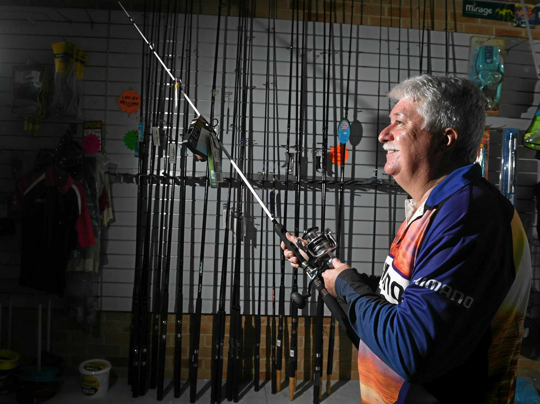 Dave's Bait Shop co-owner Ian Hush has fond memories of the store where he served many customers who were all eager to share their fishing adventures.