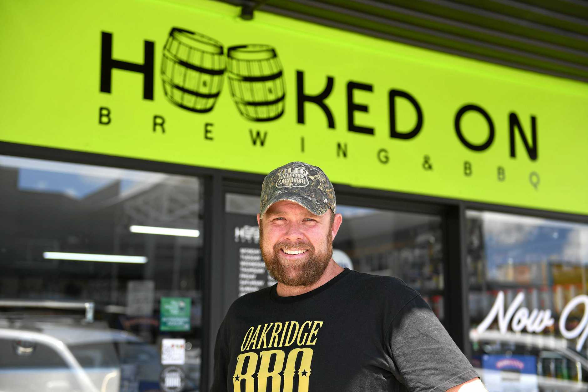 Hooked on Brewing and BBQ co-owner Jay Morgan is excited to be able to ensure Dave's Bait Shop will continue to serve customers after taking over the business and ensuring the fishing store will continue operating in Ballina with it's 75 anniversary approaching.