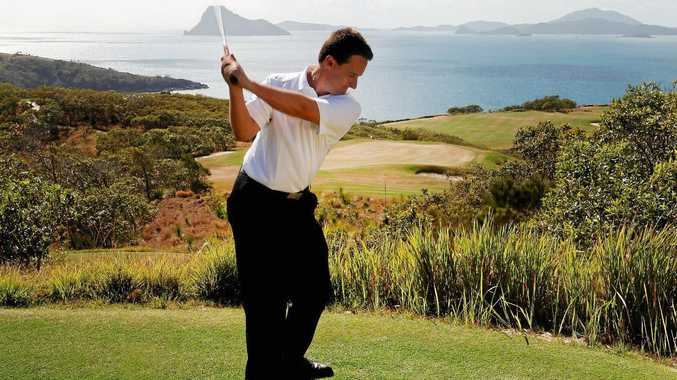 TEE-ING OFF: Hamilton Island Golf Club pro Robert Blain has played his last round on Dent Island, as he moves to New South Wales to start a new role with Royal Sydney.  Photo Contributed
