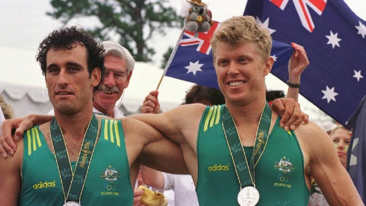 Australian's Rob Scott (left) and David Weightman at the Atlanta Olympics.